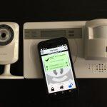 Camera surveillance app integrates SMS alarm control