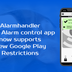 Alarmhandler SMS alarm control app for Android